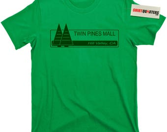 Twin Pines Mall Back to the Future 2 3 1.21 Gigawatts Flux Capacitor Michael J Fox Marty McFly DeLorean 88 mph movie DMC trilogy T Shirt tee