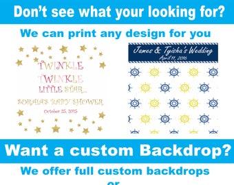 Vinyl Backdrop, CUSTOM BACKDROP Photography Backdrop // Simplyphotodrops Premium Vinyl Backdrops