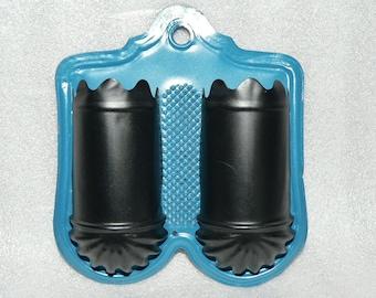 Primitive Vintage Double Tin Match Safe Holder Wall Mount Décor