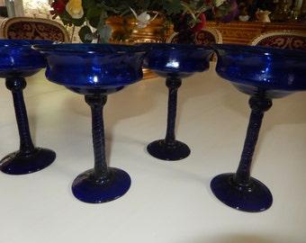 COBALT BLUE GLASSES