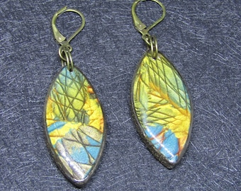 Metallic colors polymer clay earrings
