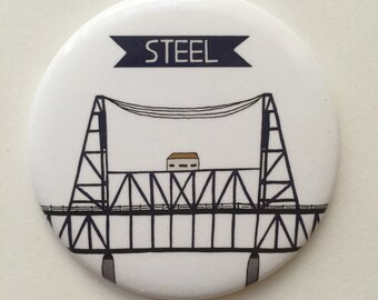 Steel Bridge Portland, Oregon Themed Magnet