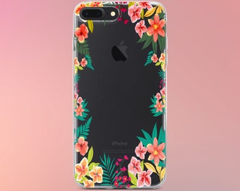 Floral phone case for iPhone X iPhone 6 Case Tropic Floral iPhone 6 Plus Case iPhone 7 Case iPhone 7 Plus Case iPhone 5s Case iPhone 8 Plus