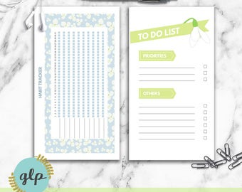 Spring  Productivity Bundle - Personal Size Printable Planner Inserts