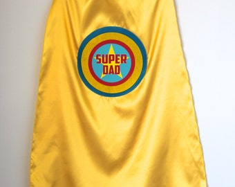 Customized and Personalized DAD SUPERHERO Cape - Any Color - Adult Super Hero Cape - Ships Fast - Perfect Super Hero Capes for Men and Women