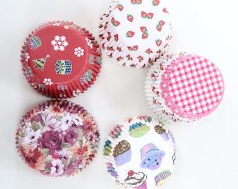 200 Premium Colored Design Standard Cupcake Baking Liners Paper