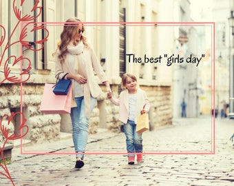 Greeting Card: The best girls day