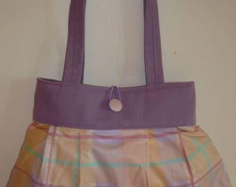 Bag reversible Rosalie yellow and purple