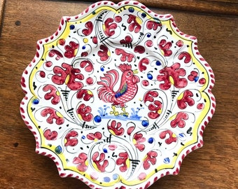 Vintage pottery ornamental plate from the twenties