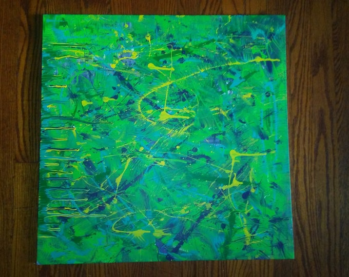 """Featured listing image: 24""""×24"""" Splash Abstracts- Abstract painting wall art"""