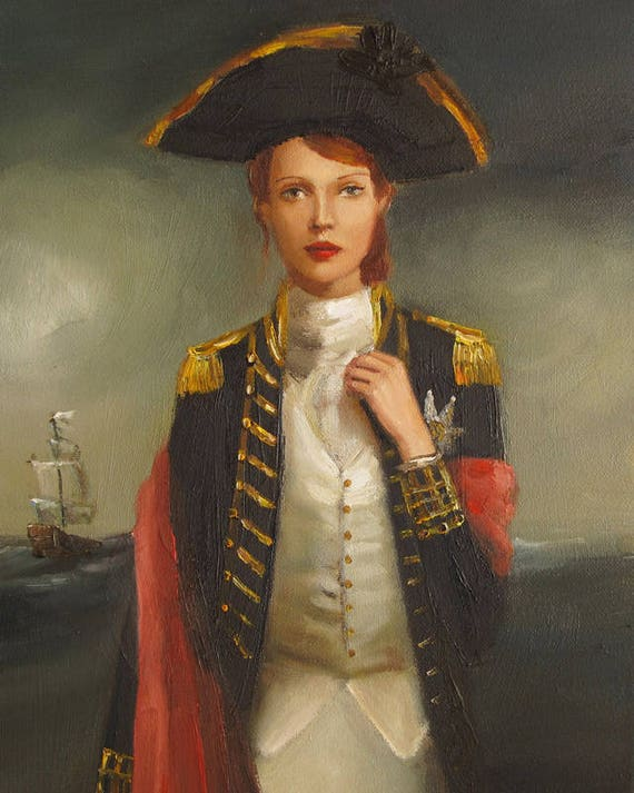 Portrait. Her Face Launched A Thousand Ships.  Art Print