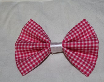 Pink Fabric Hair Bow