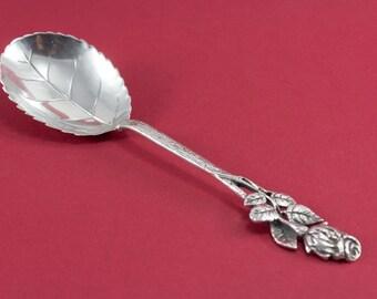 Cream spoon, 800er silver, Hildesheim Rose