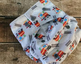One Size Pocket Cloth Diaper Trains 15-40 lbs PUL