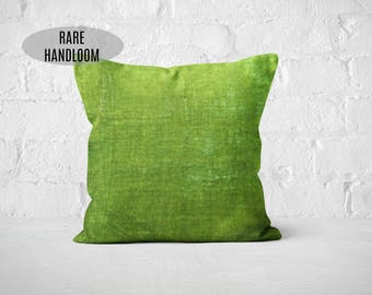 Pantone Greenery Velvet Throw Pillow | Housewarming Gift | Green Velvet Cushion | Green Velvet Pillow | Reversible Pillow