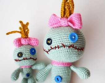 Scrump the Doll, Lilo & Stitch, Scrump doll, crochet Scrump, Scrump Lilo, doll, crochet doll, handmade doll, monsters, monster doll