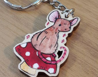 Spring Mouse Keycharm