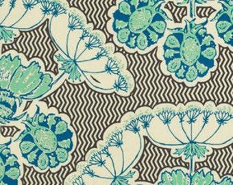 OOP HTF Anna Maria Horner fabric  Field STudy Collection Specimen Struck Blue Gray