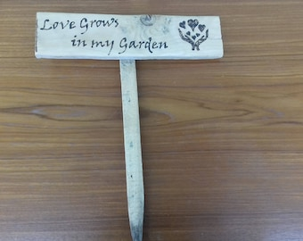 Garden Signs in Recycled Wood, Love Grows in My Garden, Garden Fairies Gather Here, The Kiss of the Sun