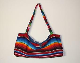 handmade yoga mat bag // yoga mat holder // southwestern yoga bag