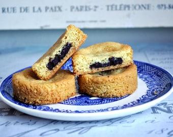 Tea cake with Earl grey  infused dark chocolate, French tea cake with chocolate center, snack, homemade baked goods