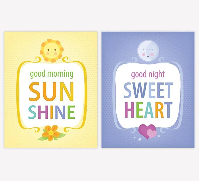 Printable Nursery Wall Art Set Instant Download 8 x 10