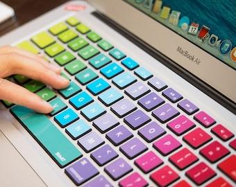 Clavier MacBook Sticker vinyle Air Stickers Laptop peau arc en ciel pour Mac 13 15 17