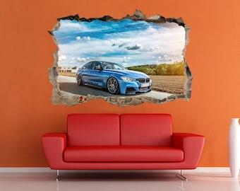 BMW tuning Decal BMW Sticker BMW print bmw sport car bmw supercar bmw decor Vinyl sticker bmw poster Sticker Supercharger Car print Poster
