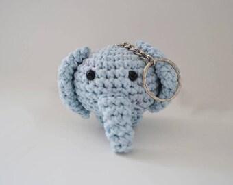 Crochet Amigurumi Elephant Keychain