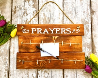 Hand-painted wooden prayer board, hanging sign, personalised sign, prayer pegs, wedding signs, communion/thanksgiving gift, mother's day