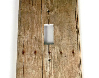 Switchplate  Light Switch Cover  Switch Plate in Barnwood  (201S)