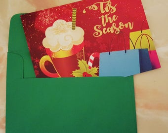 Box of 10 Eggnog Christmas Cards