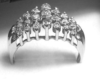 Diamond Ring White Gold Diamond Ring Vintage Free Shipping