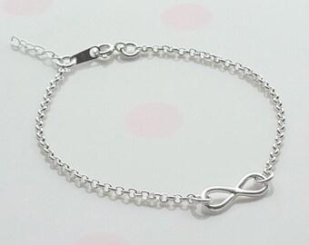 Sterling Silver Infinity Bracelet, Silver Infinity Bracelet, Infinity Charm, Bridesmaid Gift, Bridesmaid Bracelet, Gift For Her