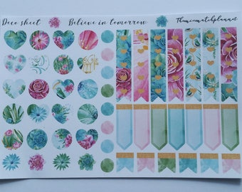 Deco planner stickers, flags,tags,check flags,hearts and deco, Functional stickers, Erin corndren,personal kits,stickers,planner decoration