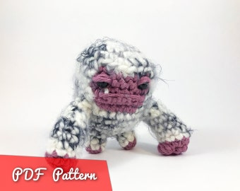 PDF Pattern for Bob the Insominable Snowman Amigurumi Kawaii Keychain Miniature Doll
