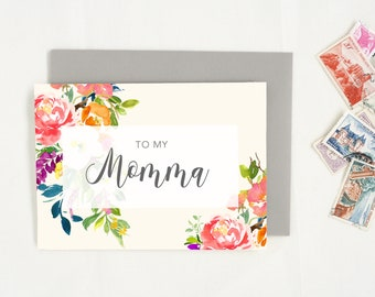 Card for Mom. Cute Mother's Day Card. Floral Mothers Day Card. Mom Card. Mother's Day Gift. Happy Mothers Day.