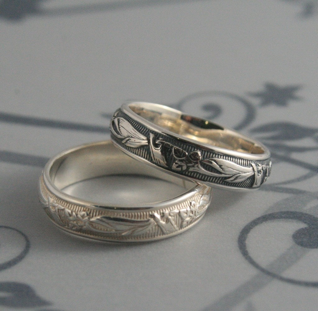 Vintage Style RingLily Nouveau RingMen's Wedding