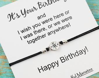 Best Friend Birthday Gift, Friendship Gift, BFF Bracelet, Birthday Gift for Friend, Compass Bracelet, Friendship Bracelet