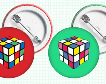 Rubix • Button Badge, 38mm, assorted colours available