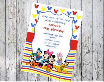 Disney Characters Birthday Invitation