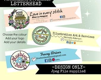 Personalised Printable Letter Head Design