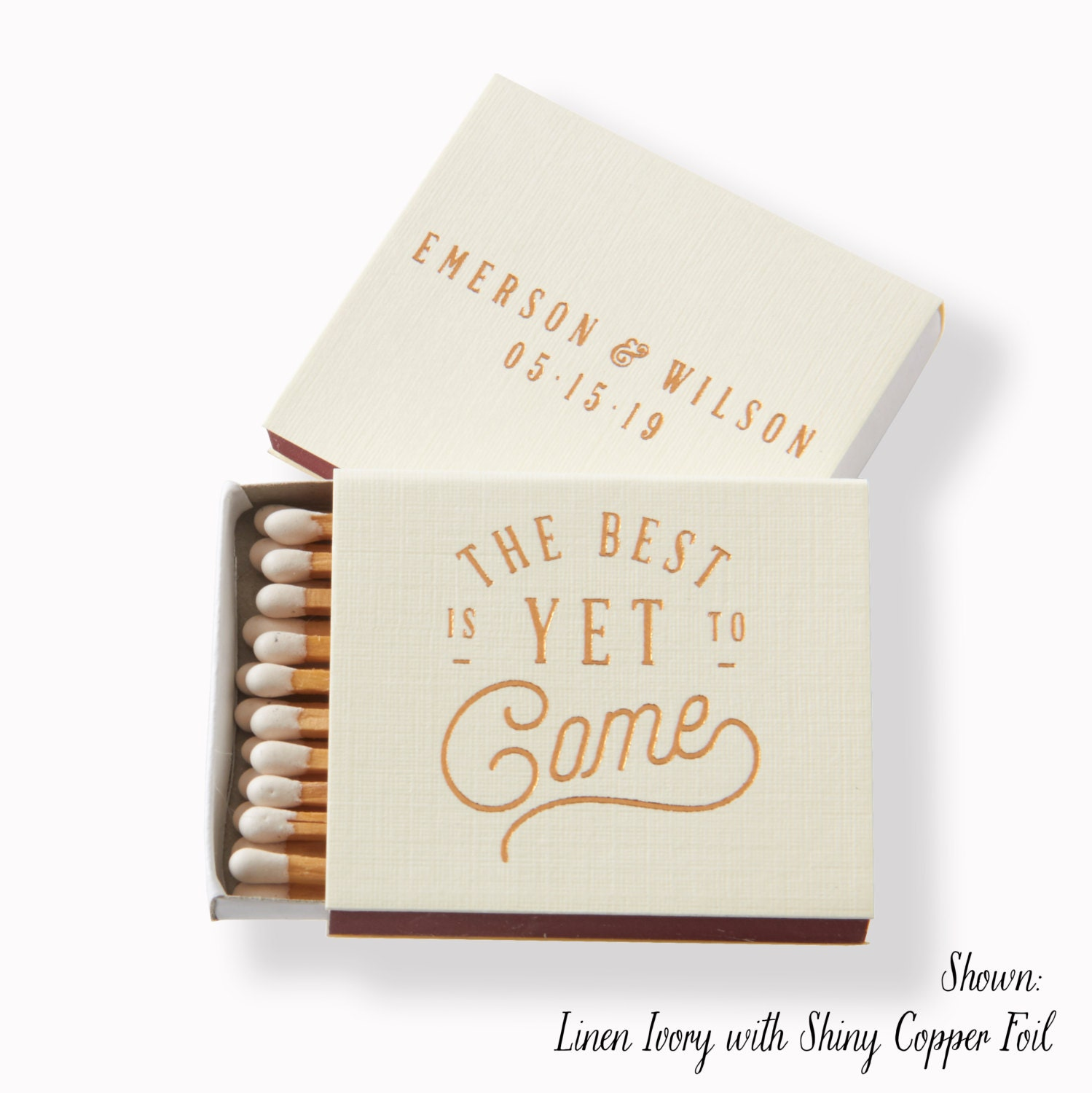 The Best Is Yet To Come Matchboxes Wedding Favor Wedding