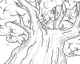 Perspective Tree | Coloring Page for Adults