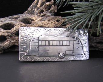 1956 Airstream Caravanner Vintage Travel Trailer Sterling Silver Money Clip