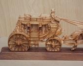 Western Decor Stagecoach,...