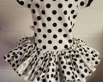 Polka dots onesie & tutu combo