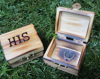 Wedding ring box, wood ring box, ring bearer box, rustic ring box, rustic wedding decor, proposal ring box, engagement ring box, ring holder