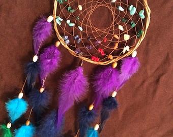 Dream Catcher- Chakra Love- Small Dream Catcher- Rainbow Dream Cathcer- Made to Order
