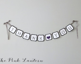 THANK YOU Banner - Available in Your Custom Wedding Colors